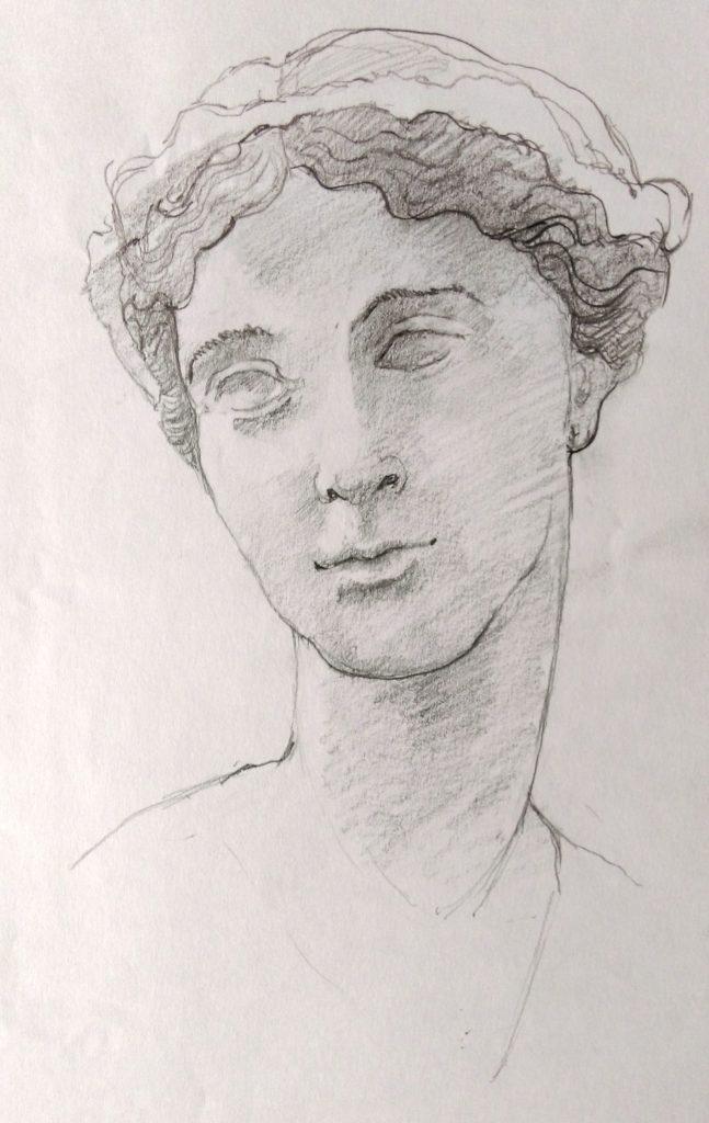 femme plâtre